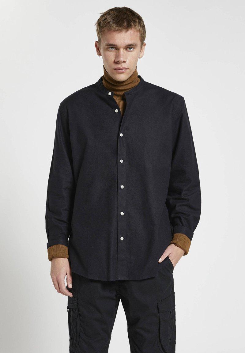 PULL&BEAR - Shirt - mottled black