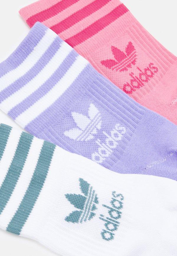 adidas Originals MID CUT UNISEX 3 PACK - Skarpety - hazy rose/wild pink/wielokolorowy Odzież Męska JJWZ