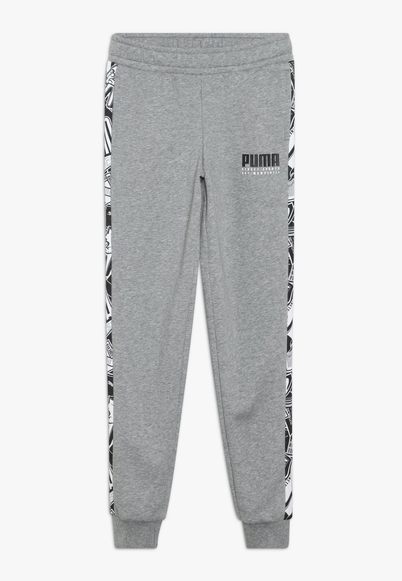 Puma - ALPHA PANTS - Tracksuit bottoms - medium gray heather