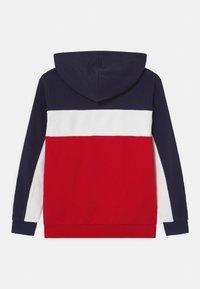 Fila - BASIC BLOCKED HOODY - Hoodie - true red/black iris/bright white - 1