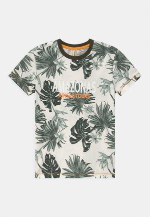 BOYS AMAZONASTRIP - Print T-shirt - blaetter grün