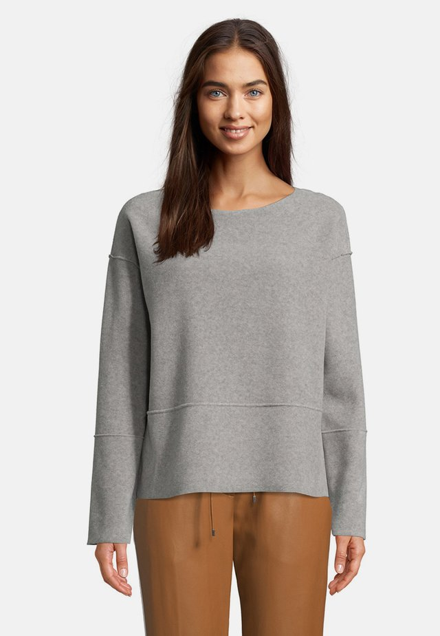 MIT RUNDHALSAUSSCHNITT - Sweatshirt - braun melange