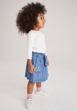 Denim skirt - light-blue denim