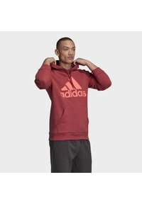 adidas Performance - BADGE OF SPORT FRENCH TERRY HOODIE - Jersey con capucha - red