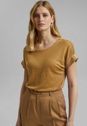 MIT KONTRASTBLENDE - T-shirt basique - bark