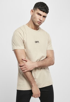 T-shirt print - sand/black