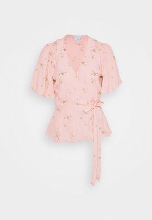 BELLE BLOUSE - Blusa - pink/gold