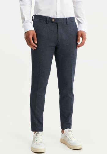 HEREN SLIM FIT PANTALON - Kalhoty - dark blue
