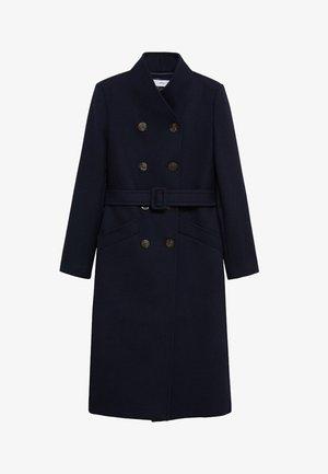 LUNA - Classic coat - námořnická modrá