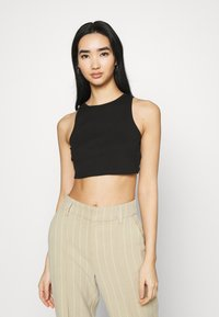 Vila - VIFELIA CROPPED TANK 2 PACK - Top - snow white/black - 4