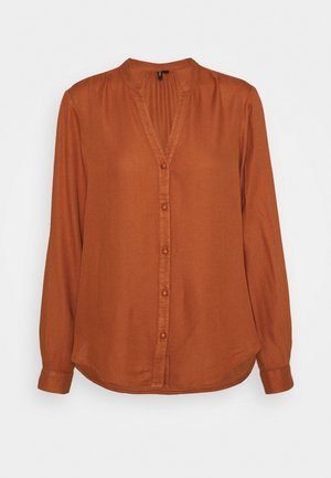 VMNEELA  - Button-down blouse - chutney