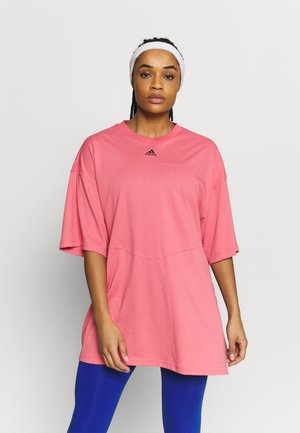 OVERSIZED TEE - T-shirts med print - hazy rose/black