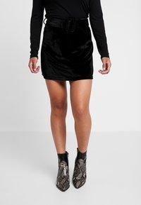 Fashion Union Petite - CANDY SKIRT - Minisukně - black - 0