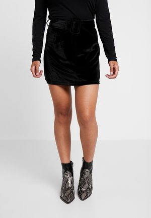 CANDY SKIRT - Mini skirt - black