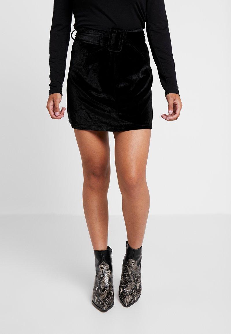 Fashion Union Petite - CANDY SKIRT - Minisukně - black