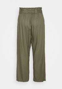 Simply Be - TIE WAIST TROUSERS WITH POCKETS - Trousers - khaki - 1