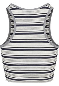 Urban Classics - LADIES RIB STRIPE CROPPED - Top - navy/white/grey - 2