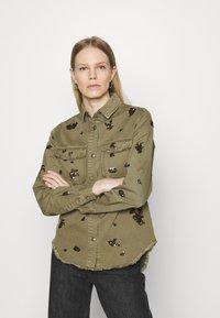 Desigual - Button-down blouse - green - 0