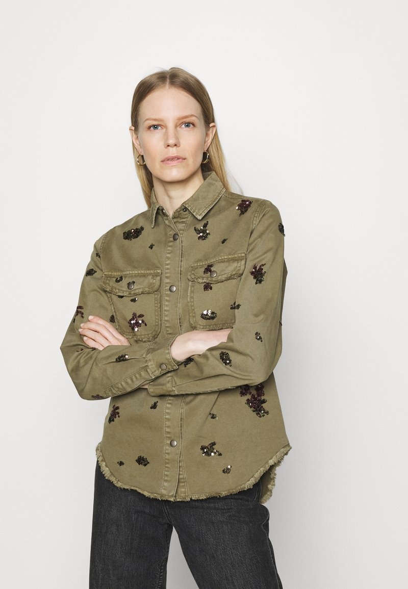 Desigual - Button-down blouse - green