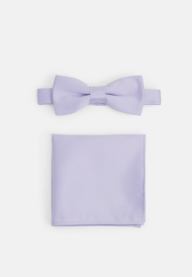 ONSTRENT BOW TIE BOX HANKERCHIEF SET - Poszetka - pastel lilac