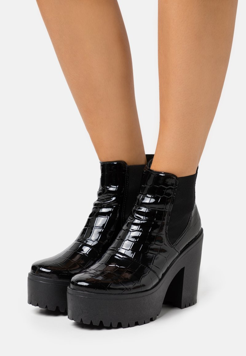 Topshop - BRIA CHELSEA UNIT - High heeled ankle boots - black