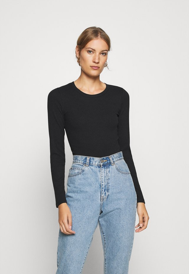 ESSENTIAL BODYSUIT - Long sleeved top - black