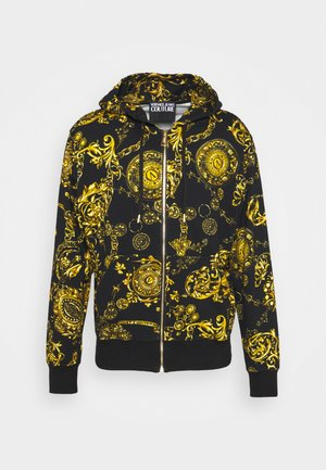 BRUSHED PRINT REGALIA BAROQUE - Sweater met rits - nero/oro