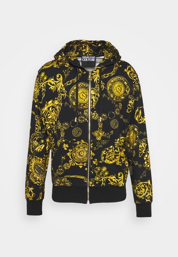 BRUSHED PRINT REGALIA BAROQUE - Zip-up sweatshirt - nero/oro