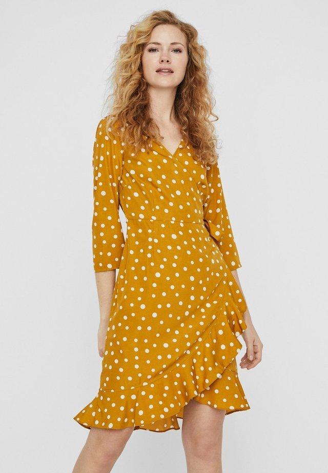VMHENNA WRAP - Korte jurk - harvest gold