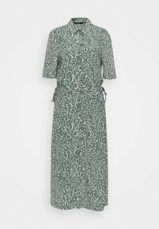 VMLIVA CALF SHIRT DRESS - Abito a camicia - laurel wreath/liva