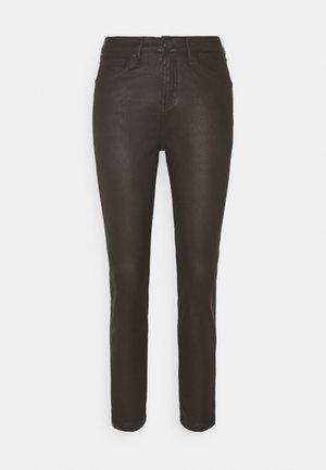 EMILY ZIP - Slim fit jeans - ground coffee