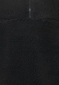 Weekday - IVAN PILE HALFZIP UNISEX - Winter jacket - black - 2
