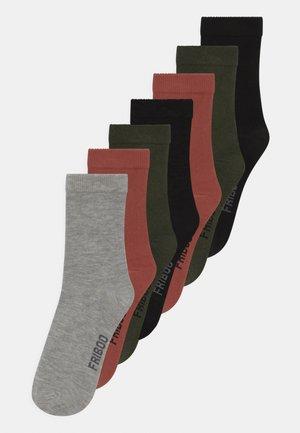 7 PACK UNISEX  - Socks - black/khaki/grey