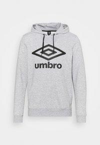 Umbro - LARGE LOGO HOODIE LOOPBACK - Sweatshirt - grey marl/black - 0