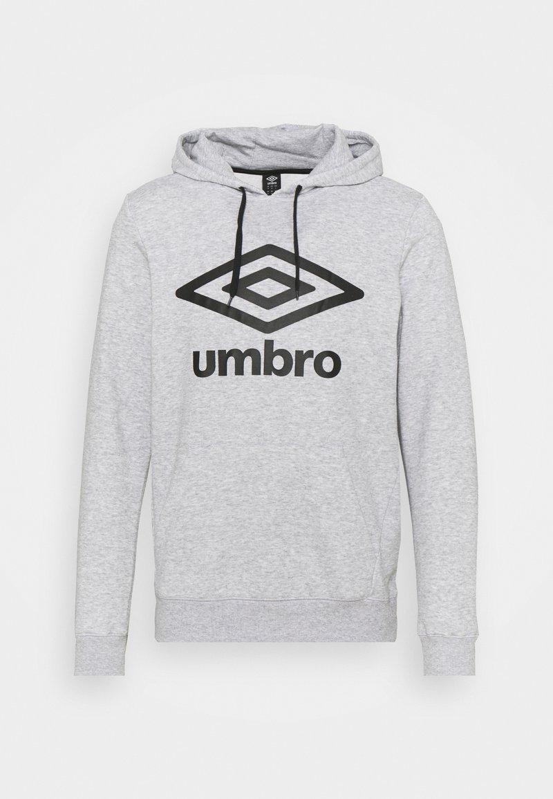 Umbro - LARGE LOGO HOODIE LOOPBACK - Sweatshirt - grey marl/black