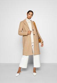 Vero Moda - VMBLAZA LONG - Zimní kabát - tan - 1