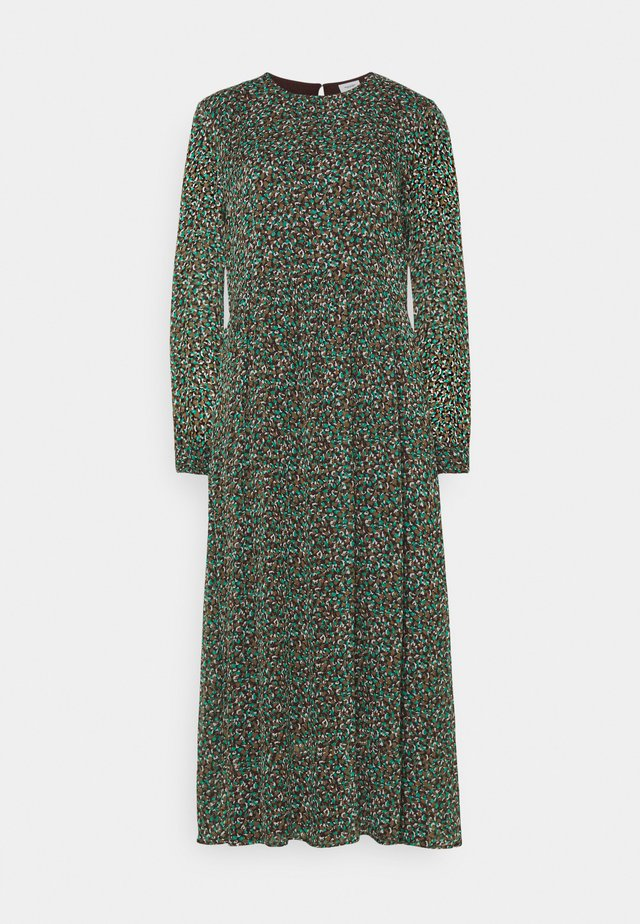 DRESS LONGSLEEVE ROUND NECK - Maxi dress - multi coloured