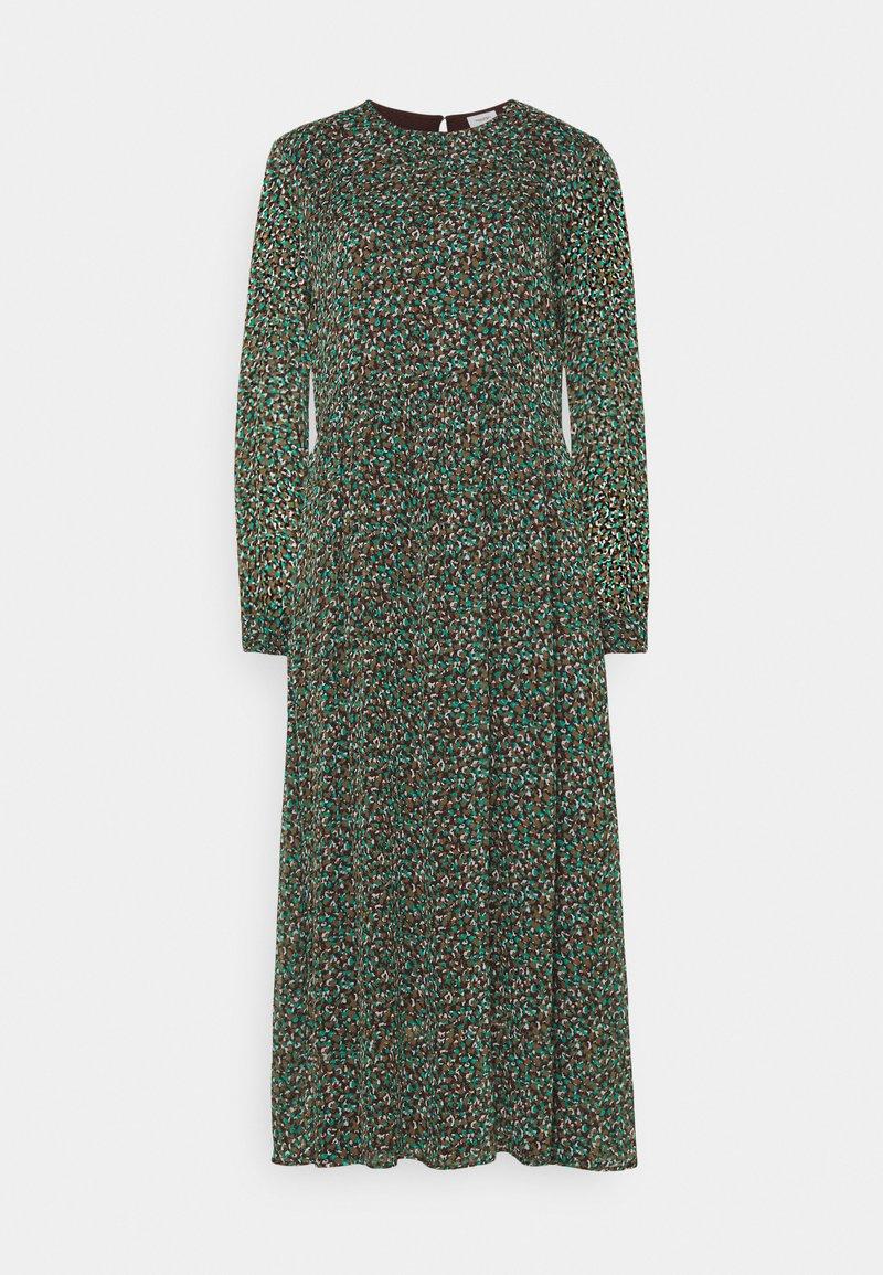 Marc O'Polo DENIM - DRESS LONGSLEEVE ROUND NECK - Maxi dress - multi coloured