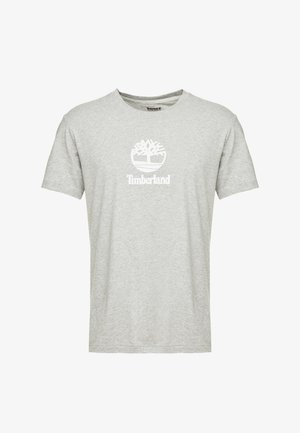 STACK LOGO TEE - T-Shirt print - medium grey heather