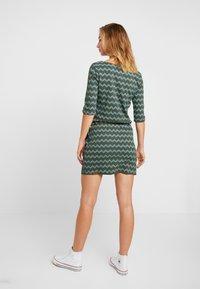 Ragwear - TANYA ZIG ZAG - Jersey dress - green - 3