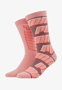 Puma - ALL OVERLOGO 2 PACK - Sports socks - rose water - 1