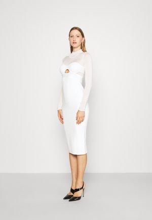 LONG SLEEVE CORSET DRESS - Jumper dress - alabaster