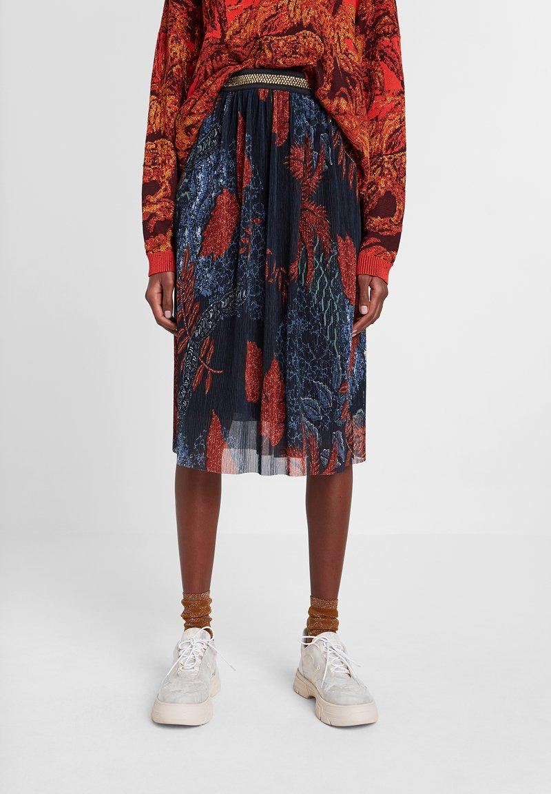 Desigual - FAL_VIRGINIE - A-line skirt - blue
