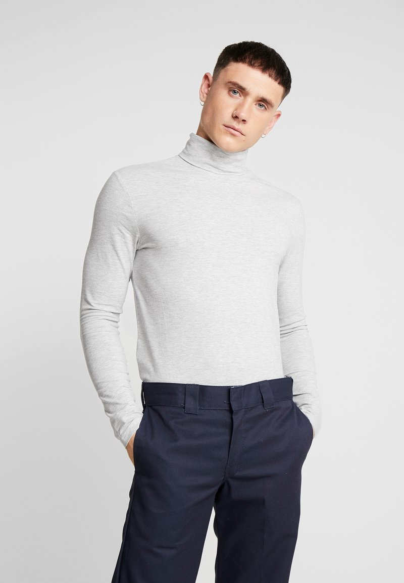Only & Sons - ONSMICHAN SLIM ROLLNECK TEE - Long sleeved top - light grey melange