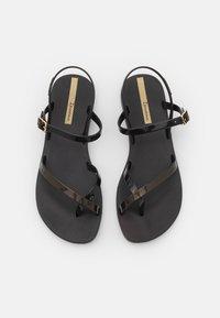 Ipanema - FASHION  - T-bar sandals - black/gold - 5