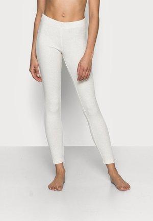 LOUNGE TROUSERS FREJA - Pyžamový spodní díl - light beige melange