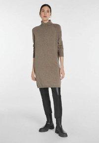 SET - Jumper dress - taupe - 1