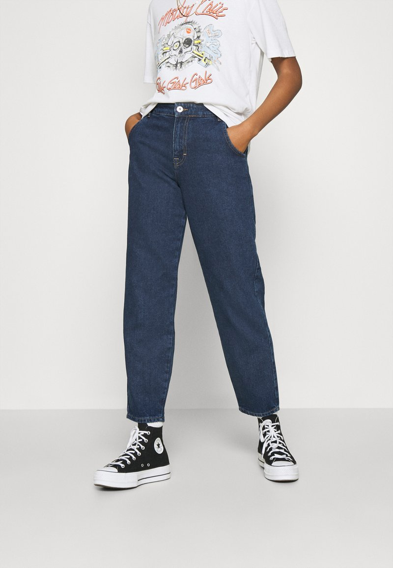 ONLY - ONLTROY LIFE CARROT - Jeans baggy - dark blue denim