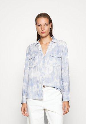 ASIA UTILITY - Button-down blouse - blue