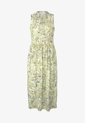 Vapaa-ajan mekko - green paisley design